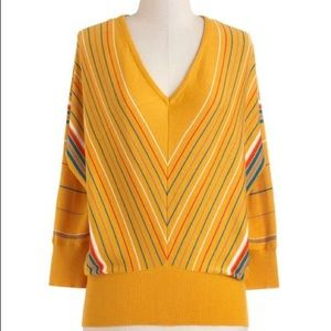 Tulle Hayride Yellow Sweater Large